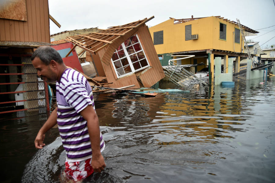 Hurricane Maria caused widespread damage in Puerto Rico. It hit within weeks of Hurricanes Irma striking Florida and Harvey flooding the Texas coast. Photo: Hector Retamal / AFP / Getty Images