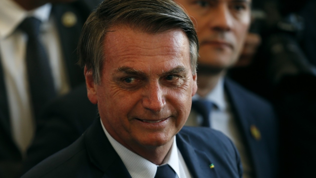 President of Brazil Jair Bolsonaro looks on before the Copa America Brazil 2019 Final match between Brazil and Peru at Maracana Stadium on 7 July 2019 in Rio de Janeiro, Brazil. Photo: Wagner Meier / Getty Images