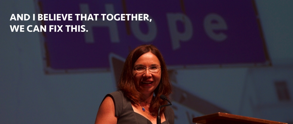 Portrait of Dr. Katharine Hayhoe, atmospheric scientist and professor of political science at Texas Tech University, speaks about climate change. Photo: Katharine Hayhoe