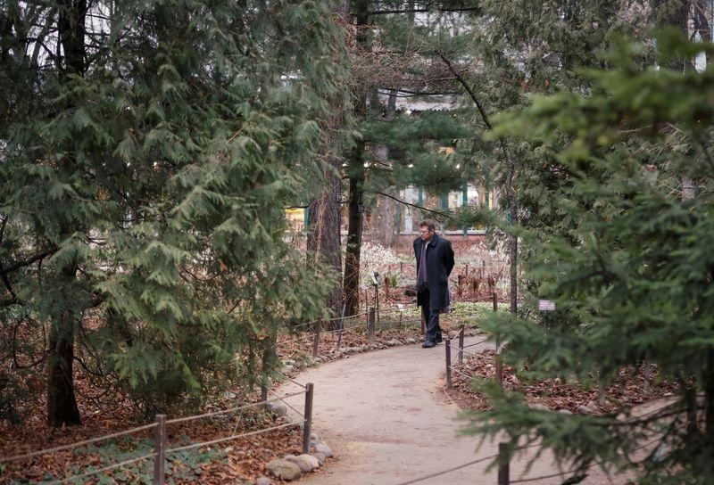 A visitor walks in the Apothecary Garden, also known as the Botanic Garden of Moscow State University, in Moscow, Russia, 18 December 2019. Photo: Shamil Zhumatov / REUTERS