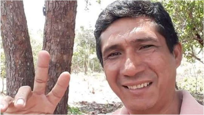 Zezico Guajajara, an indigenous teacher and a supporter of the Guardians of the Forest, was murdered on 31 March 2020. He is the fifth Amazon forest protector to be killed in six months. Brazil's populist President Jair Bolsonaro has drawn intense domestic and international criticism for failing to protect the Guardians' territory in the eastern Amazon region. Photo: Zezico Guajajara