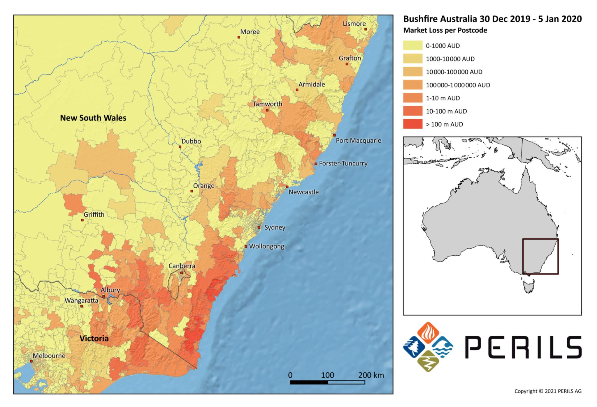 "Final insured losses for ""Black Summer"" bushfires of 2019/2020 in Australia estimated at A$1.866 billion"