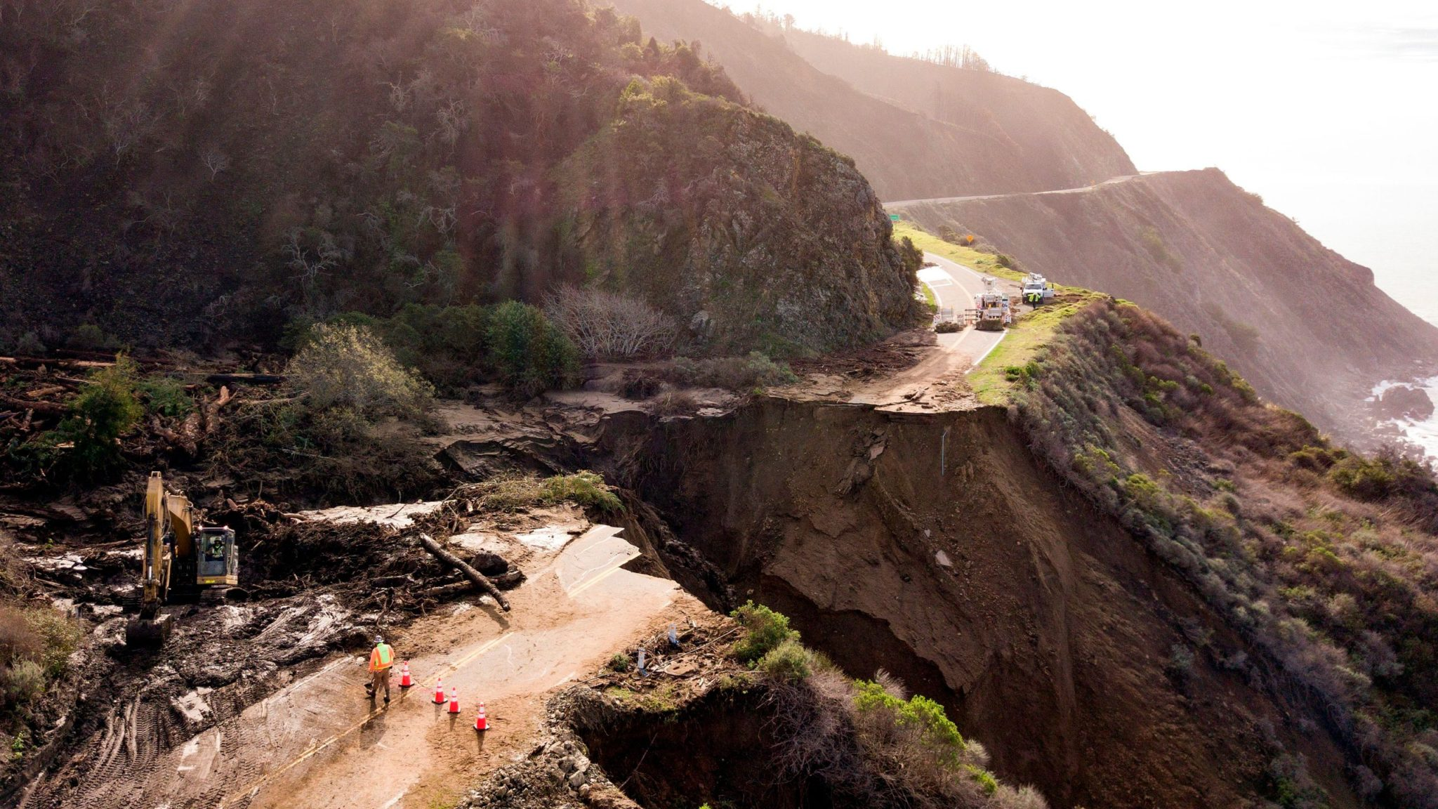 """Floods after wildfires are washing California's Pacific Coast Highway into the ocean – """"It was great while it lasted"""""""