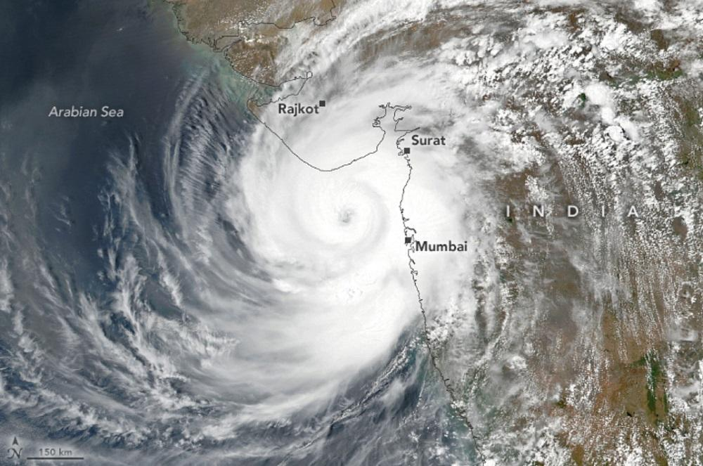 Satellite view of Cyclone Tauktae several hours before making landfall in India on 17 May 2021. The image was captured by NASA / NOAA / Suomi NPP satellite. Photo: Suomi NPP-VIIRS / NASA / NOAA